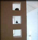 2階リビング吹抜けに向いた小壁。